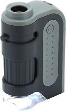Carson MicroMax 60x-120x Power LED Light Pocket Microscope M300 MicroBrite Plus