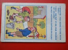 POSTCARD COMIC WHAT YOU GOING TO DO WITH THAT - PUT IN RHUBARB - WE HAVE CUSTARD