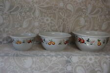 Corning, Corelle CHUTNEY Set of Three Stoneware Nesting MIXING Serving BOWLS