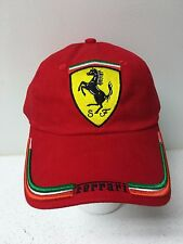 Men's Red Ferrari Flag Cap
