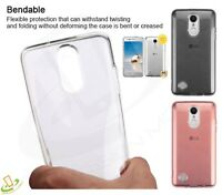 Clear Transparent Hybrid Rubber Silicone TPU Protective Case Cover For LG Phone