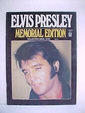 1977 IdEal Magazine ELVIS PRESLEY / Memorial Edition Collector's Edition Ex. Cnd