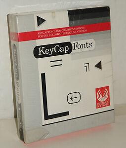KeyCap Key Cap Fonts Software for Vintage Macintosh by Paperback Software SEALED