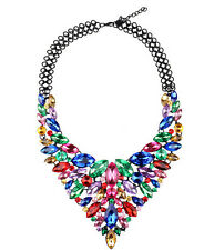 New Fashion Pendant Chain Crystal Choker Chunky Statement Bib Necklace Jewelry e