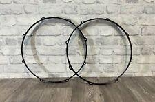 """More details for mapex black tom drum 16"""" 8 lug hoops rims hardware tension #h1040"""