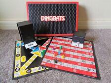 DINGBATS VINTAGE BOARD GAME BY WADDINGTONS 1987 + JUNIOR DINGBATS GAME BOARD