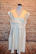 Modcloth Love You Ivory Dress NWOT 3X Ivory satin A-line Pleated bodice  wedding