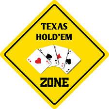 "*Aluminum* Texas Hold 'EM Zone Funny Metal Novelty Sign 12""x12"""