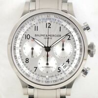 BAUME & MERCIER Capeland 65716 Chronograph SS Men's Automatic Winding Genuine