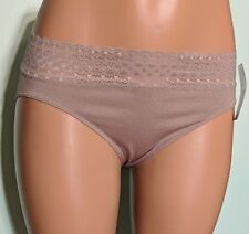 Jockey Bikinis Microfiber Seamfree Lace Top Modern Fit Gray Panties Size 8 NWT