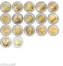 Finland 2 euro 17 coins 2004 - 2015 UNC Finlandia Finlande Finnland FDC