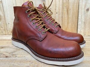 RED WING 8166 Classic Round Toe Brown Leather Boot Men Work Size 8.5