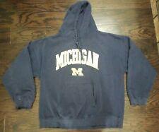 Vintage Michigan Wolverines NCAA Hooded Hoodie Sweatshirt Mens Size 3XL XXXL BIG