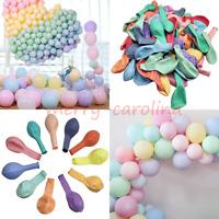 Lot Pastel Macaron Candy Colored Latex Helium Balloons Kids Birthday Wedding DIY