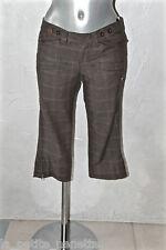 pantalones cortos algodón viscosa marrón TOMMY HILFIGER T 36 I 40 SATISFECHO/