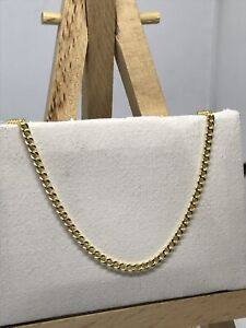 Genuine 9K Yellow Gold 1.5mm Fine Curb Link Chain Necklace Woman&Kids Brand New