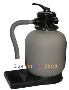 Sandfilter Sandfilteranlage Poolfilter Filteranlage 25kg 35cm Filterkessel TOP