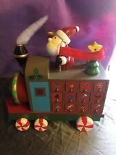 Heaven Sends Wooden Santa Train Advent Calendar, Wheels Move,Lift Up Doors! -281