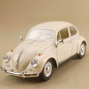 1967 Volkswagen Classical Beetle Cream Beige 1:24 17cm Die-Cast OLP Model Opens