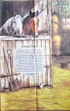 "Horse Tea Towel Linen Cotton Blend ""A Horse's Prayer"" by Lamont"