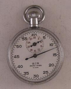 Serviced Military WW2 Years STOP WATCH 1950 Swiss Hi Grade 11Jewels Watch