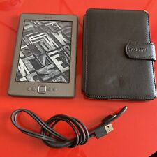 Amazon D01100 Kindle 4th Generation 2GB Wi-Fi 6 inch eBook Reader - Reset - Case