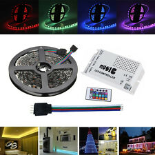 5M SMD5050 RGB LED FLEXIBLE STRIP TAPE LIGHT KIT + MUSIC CONTROLLER + CABLE