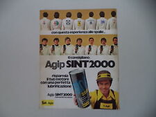 advertising Pubblicità 1974 OLIO AGIP SINT 2000