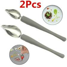 Chef Valon Sauce Plating Art Pencil Dish Coffee Draw Tool Spoon -Stainless Steel