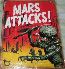MARS ATTACK TOPPS TIN METAL SIGN MAN CAVE GARAGE WALL DECOR