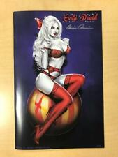 Lady Death Pin Ups #1 NAUGHTY Holidays Variant Cover by Elias Chatzoudis Signed