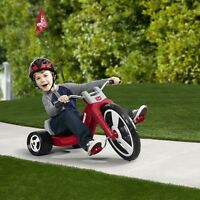"Big Wheels For Kids Tricycle Boys Red 16"" Front Wheel Handle Grips Thick Pedal"