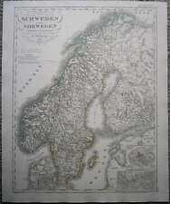 1848 Stieler map SWEDEN & NORWAY (#17)