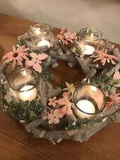 Candle Holder Mini Lichtergiebel with Nativity for Dolls Candles 7mm x 40mm