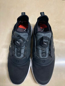 Puma Ignite Pwradapt Caged Disc Golf Shoes Black Men's Size 9 BOA