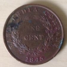 RARE 1845 East India Company One cent coin