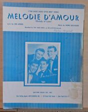 "Melodie D'Amour ""The Shoo Shoo Little Bird Song"", 1957 sheet music Ames Brothers"