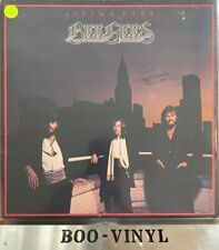 BEE GEES LIVING EYES 1981 GATEFOLD VINYL LP + INNER A1/B2 EX/EX CON