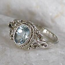 Natürliche Echte Edelstein-Ringe mit Blautopas für Damen