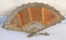 miroir biseauté forme éventail bronze époque Napoléon III fan mirror