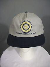 Vtg Ford Gray Blue UAW NASHVILLE Glass Plant Embroidered Snapback Hat Cap NOS