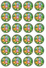 24 x Jungle Animals Wafer Rice Paper Cupcake Toppers EDIBLE CAKE DECORATIONS
