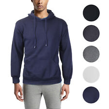 Men's Athletic Fleece Lined Sport Gym Sweater Pullover Jacket Drawstring Hoodie