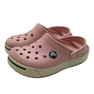 Crocs with Crocband Toddler Girls Size 10/11 Pink Water Clog Sandals