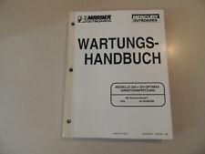 1998 Werkstatthandbuch Mariner Mercury 200 225 PS Optimax Direkteinspritzung