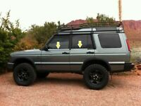Land Rover DISCOVERY 2 II 1994 - 2004 Chrome Windows Frame Trim 4pcs S.STEEL