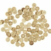 100pcs 15mm Hand Made with Love Sewing Wood Button Round Decorative Craft Button
