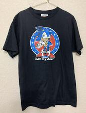 "Vintage Sonic The Hedgehog ""EAT MY DUST"" Shirt Size Medium"
