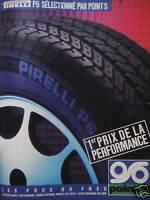 PUBLICITÉ 1985 PIRELLI P6 SÉLECTIONNÉ PAR POINT S - ADVERTISING
