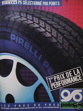 PUBLICITÉ 1985 PIRELLI P6 SÉLECTIONNÉ PAR POINT S - ADVERTISING